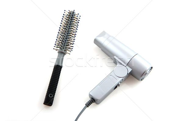 ツール 髪 ドレッサー ブラシ 孤立した 白 ストックフォト © ivonnewierink