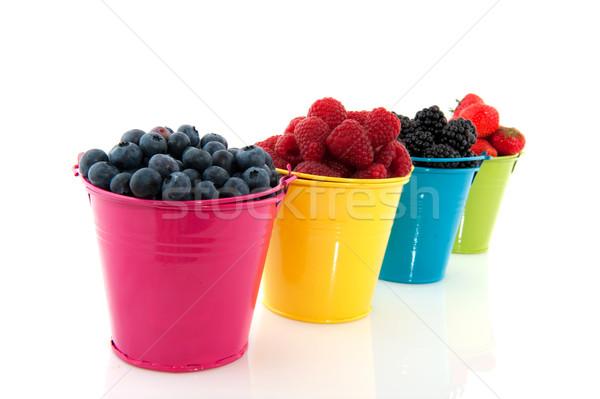 多樣 新鮮水果 水果 孤立 白 商業照片 © ivonnewierink