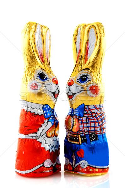 Wielkanoc czekolady mężczyzna kobiet miłości para Zdjęcia stock © ivonnewierink