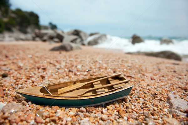 rowboat at the beach Stock photo © ivonnewierink