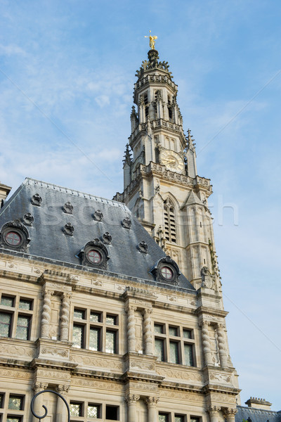 Tower of St Vaast church in Arras Stock photo © ivonnewierink