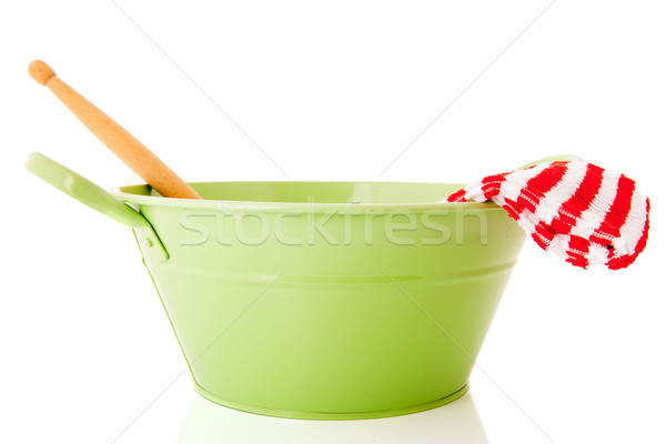 Green basin for washing dishes Stock photo © ivonnewierink