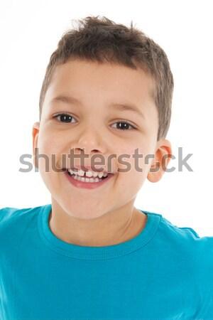 Portrait boy five years old Stock photo © ivonnewierink