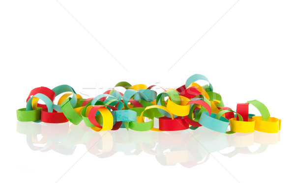 Colorful paper chain Stock photo © ivonnewierink