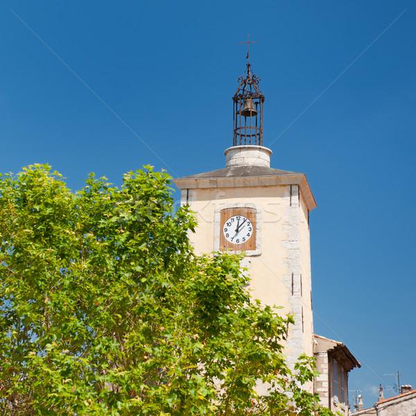 Church tower in Aiguines Stock photo © ivonnewierink
