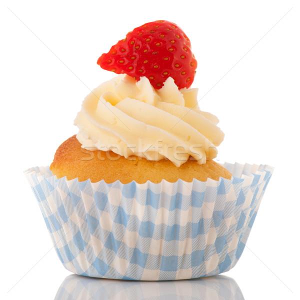 Strawberry cupcake Stock photo © ivonnewierink