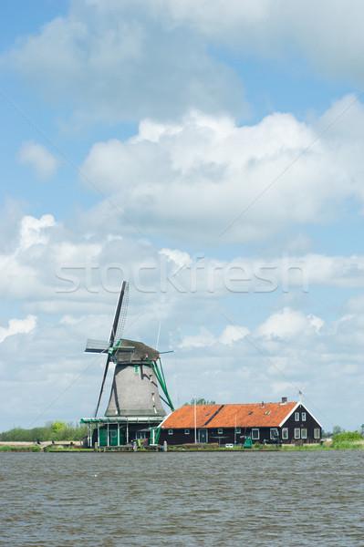 Сток-фото: голландский · Голландии · облака · пейзаж · реке