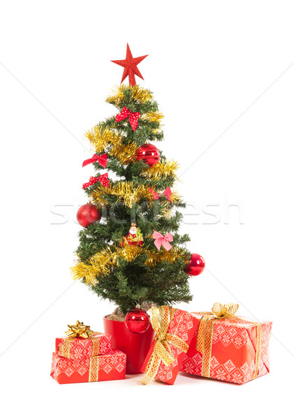 Christmas tree and presents Stock photo © ivonnewierink
