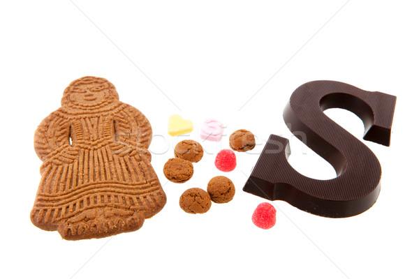 オランダ語 キャンディ 伝統的な 休日 チョコレート 背景 ストックフォト © ivonnewierink