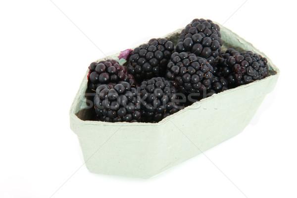 Blackberries in carton Stock photo © ivonnewierink