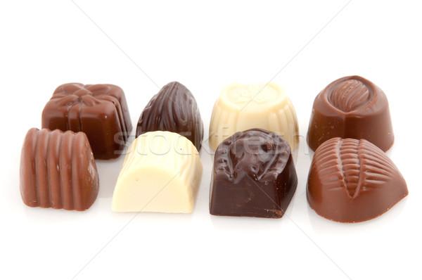 Chocolade snoep donkere vet snoep Stockfoto © ivonnewierink