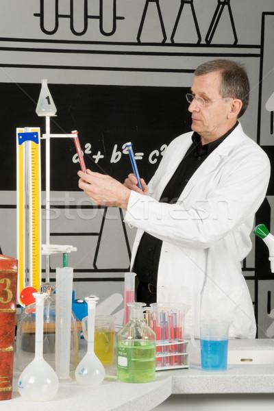 Professor in the laboratory Stock photo © ivonnewierink