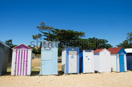 Beach huts Oleron island Stock photo © ivonnewierink