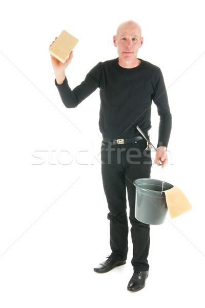 Stock photo: Window cleaner