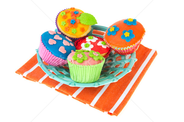 Stock photo: Home made cupcakes