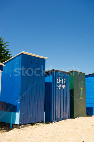 ストックフォト: ビーチ · 島 · フランス · カラフル · 砂 · 住宅
