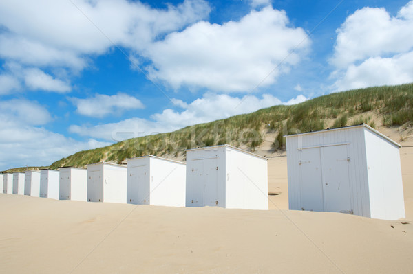 White beach huts at Texel Stock photo © ivonnewierink