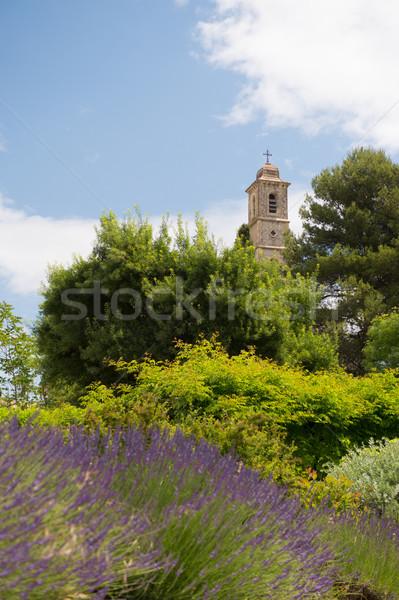 França igreja edifício torre lavanda Foto stock © ivonnewierink