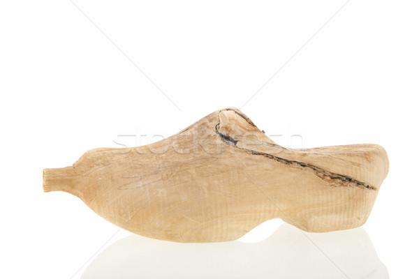 Type nederlands houten schoen geïsoleerd witte Stockfoto © ivonnewierink
