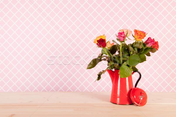 Colorful bouquet roses Stock photo © ivonnewierink