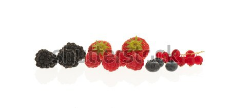 soft fruit isolated over white Stock photo © ivonnewierink
