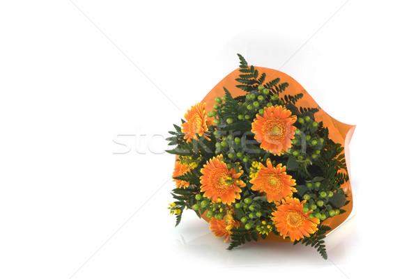 Orange bunch of flowers Stock photo © ivonnewierink
