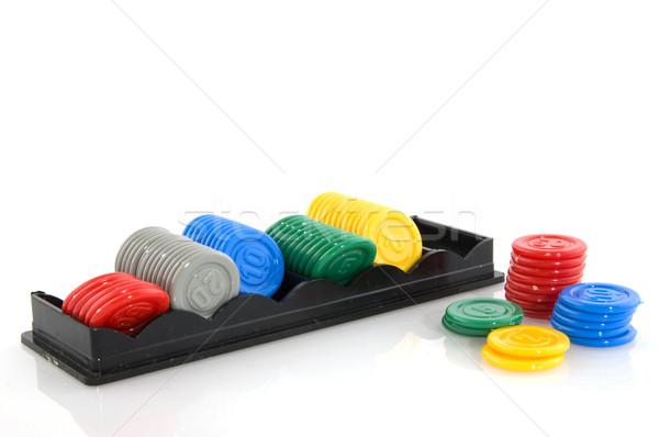 Hazardu ceny kasyno plastikowe gry Zdjęcia stock © ivonnewierink