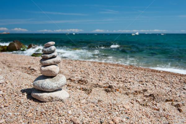 Foto d'archivio: Spiaggia · pietre · panorama · equilibrio · natura