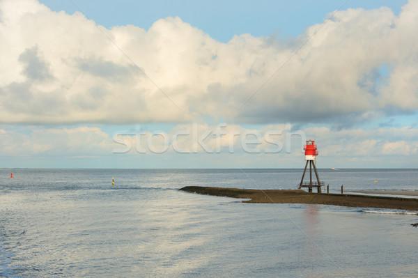 Jelzőtűz sziget part Stock fotó © ivonnewierink