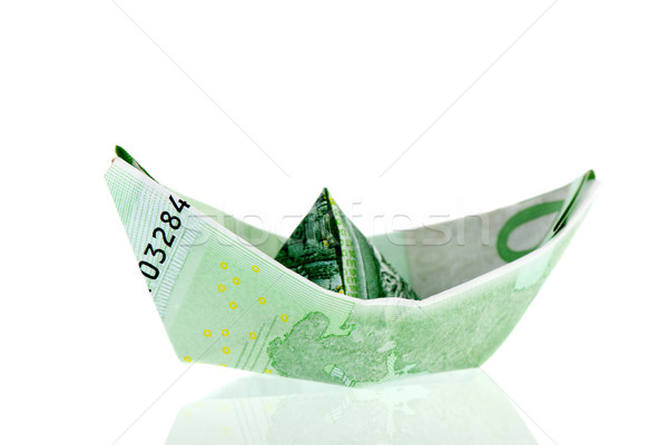 Paper money boat Stock photo © ivonnewierink