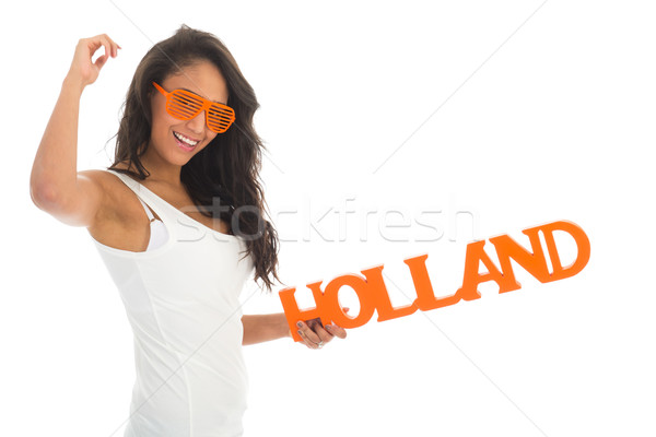 Supporter cheering for Holland Stock photo © ivonnewierink