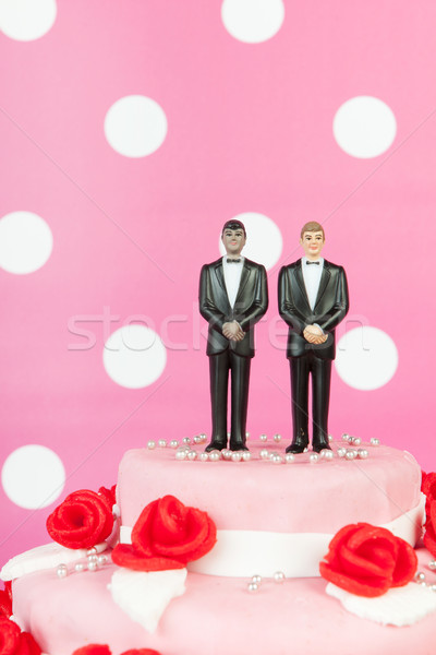 Wedding cake with gay couple Stock photo © ivonnewierink