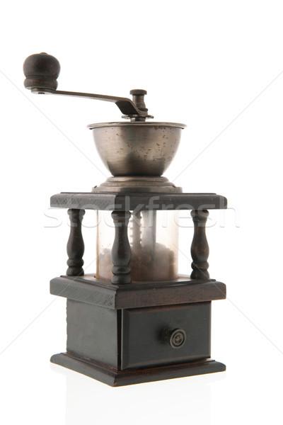 Kávé daráló bab izolált fehér terv Stock fotó © ivonnewierink