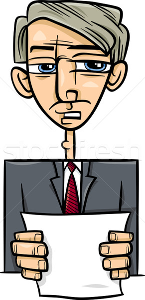 man giving speech cartoon illustration Stock photo © izakowski