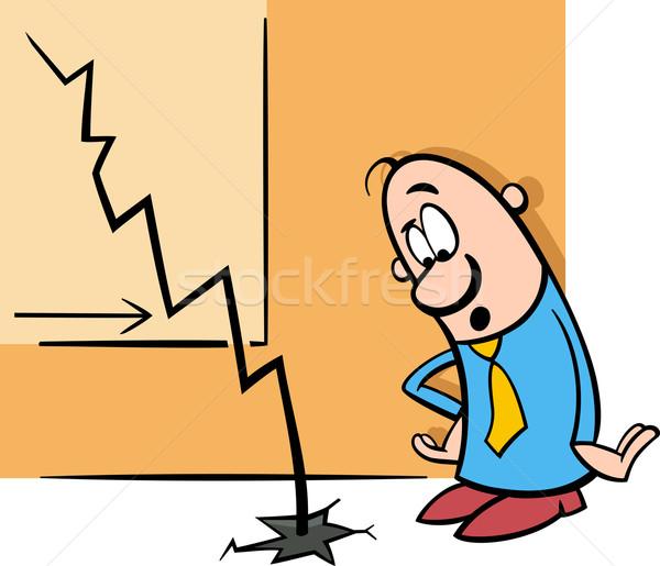 economic crisis cartoon illustration Stock photo © izakowski