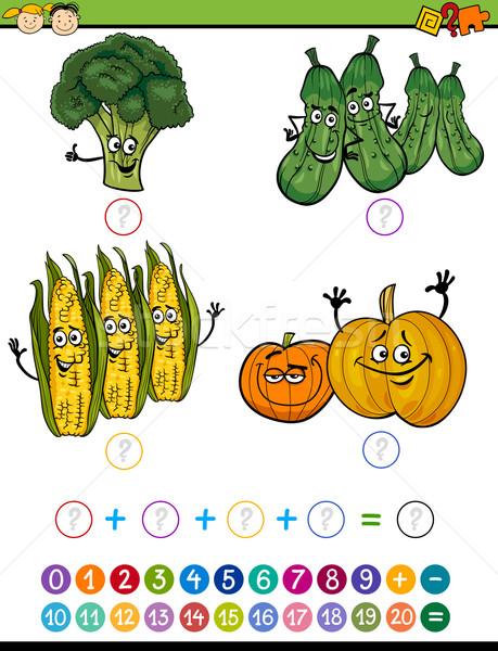 Matemático ejercicio Cartoon ilustración educación juego Foto stock © izakowski