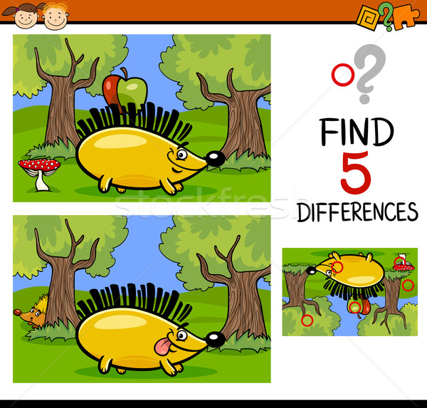 differences task for children Stock photo © izakowski