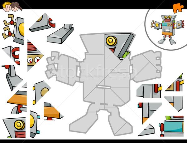 ジグソーパズル ゲーム ロボット 漫画 実例 ストックフォト © izakowski