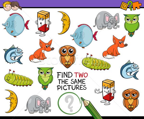 Bulmak aynı resimleri oyun karikatür örnek Stok fotoğraf © izakowski