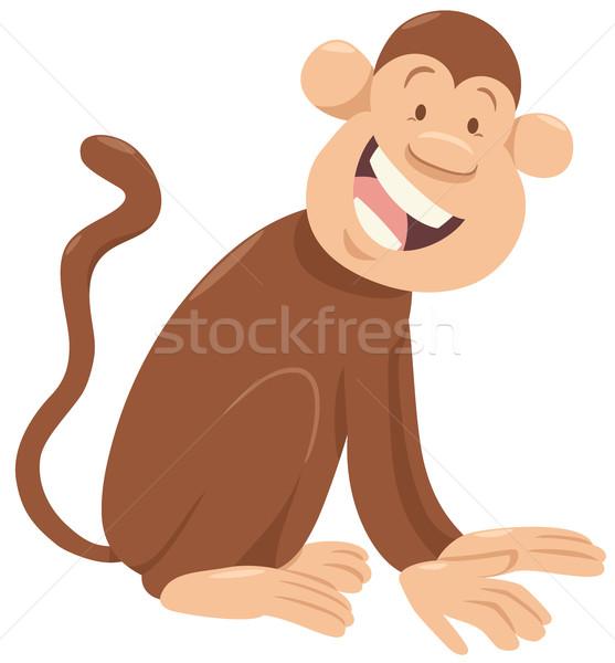 monkey cartoon animal character Stock photo © izakowski