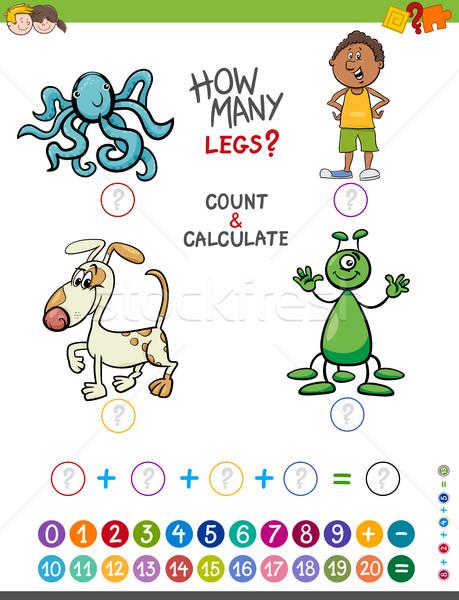 educational addition game for kids Stock photo © izakowski