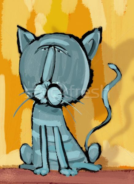 cat character digital painting Stock photo © izakowski