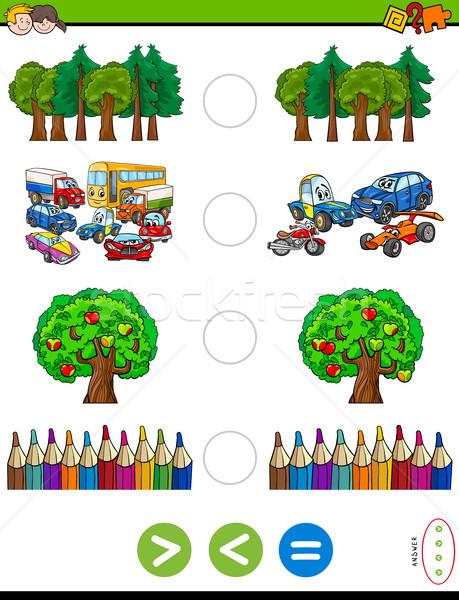Menos igual Cartoon juego ninos ilustración Foto stock © izakowski