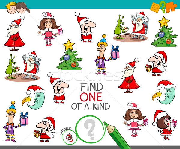 Christmas one of a kind cartoon activity Stock photo © izakowski