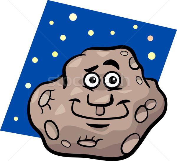 funny asteroid cartoon illustration Stock photo © izakowski