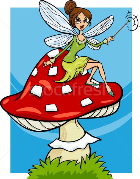elf fairy fantasy cartoon illustration Stock photo © izakowski