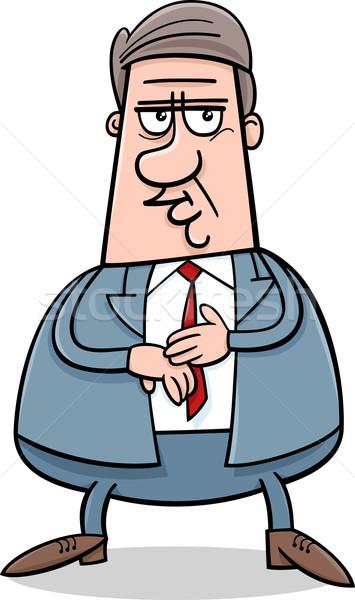 Zakenman karakter cartoon illustratie manager pak Stockfoto © izakowski