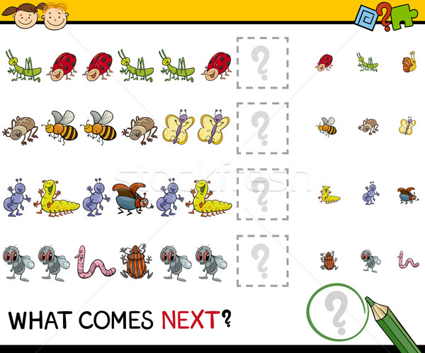 pattern task for preschool kids Stock photo © izakowski