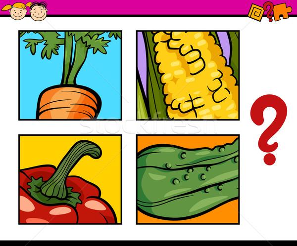 Puzzle zadanie dzieci cartoon ilustracja Zdjęcia stock © izakowski