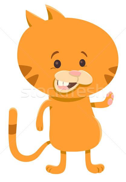 cat cartoon character Stock photo © izakowski